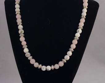 Howlite and Rose Quartz Necklace/Bracelet