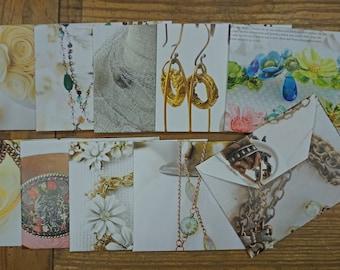 Jewelry theme - Magazine paper envelopes - recycled USPS safe - Set 2