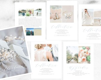 Photography Price List Multi-Page Guide | Photographer Pricing Guide Template | Wedding Package Pricing
