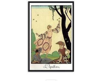 """Vintage Art Deco fashion illustration """"Papillons"""" by Georges Barbier - Fine Art print IL005"""