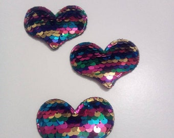 Sequin Heart Patch (Not Iron on)