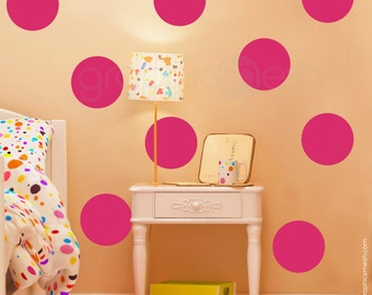 Wall decals 9 x 9 inch POLKA DOTS Modern interior decor - Simples shapes by Graphics Mesh