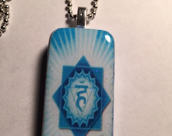 Throat Chakra Altered Domino Necklace