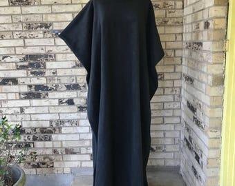 PICK YOUR COLOR Extra Long Plus Size Fleece Caftan