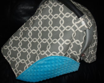 Carseat Canopy Grey Geometrical car seat canopy car seat cover car seat blanket