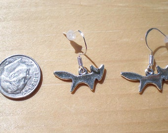 Fox Earrings, Animal Earrings, Charm Earrings, Jewelry Findings