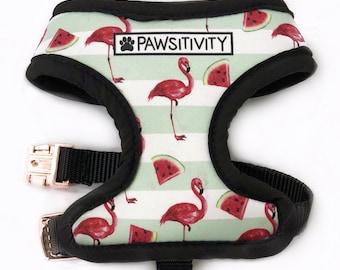 Pawsitivity Reversible Tropical Palms & Watermelon Flamingo!