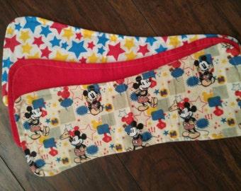 Mickey Mouse Burp Cloths