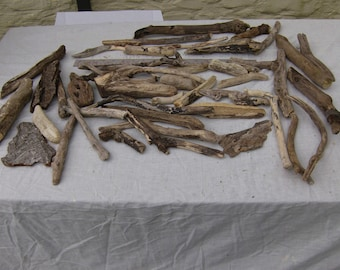 45 Driftwood Pieces, Natural, Craft, Decoration, Rustic, Wood
