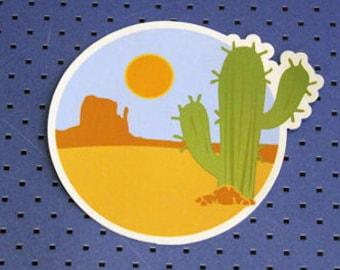 Cactus in Desert Bumper Sticker