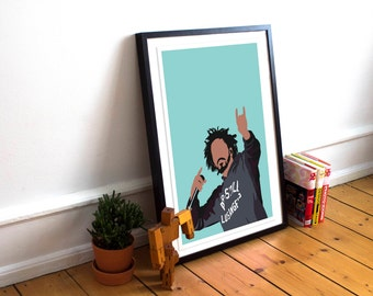 J Cole INSPIRED Poster / J Cole Print / Minimalist Art / J Cole /Music Poster/ J Cole Home Decor / J Cole Gift / Hip Hop poster / Rap Poster