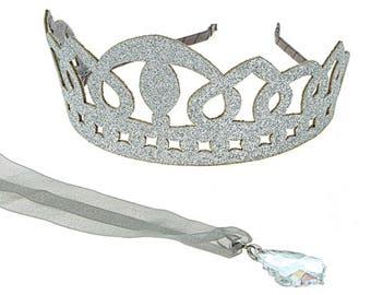 QUICK SHIP Princess Crown Set, Under 30 Holiday Gift, Girl's Stocking Stuffer, Birthday Crown, Birthday Gift,Dress Up Hanukah Christmas