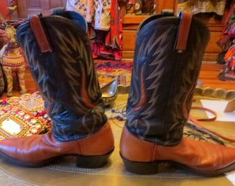 Great Dan Post Cowboy Boots, Men's 8.5, Ladies 10