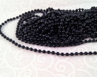 black ball chain fine 50 cm stand for creations of jewels or accessories