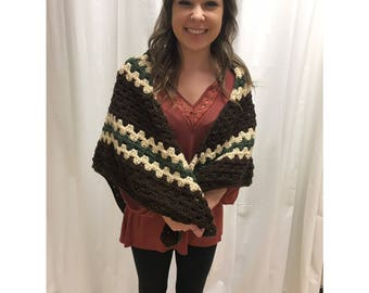 Crocheted Triangle Wrap