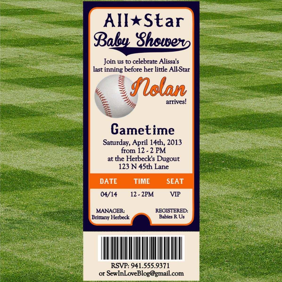 Baseball Baby Shower Invi On Baby Shower Invitations Baseball Simpl ...