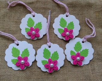 Set of 5 Quilled Gift Tags