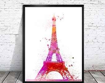 Eiffel Tower Paris 3 Watercolor Print, Eiffel Tower art, Art Print, Paris poster, France print, Home decor, Eiffel Tower Watercolor,