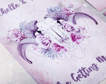 Floral Ram Wedding Invitation - Invite Suite sample