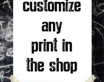 ANY AFK Print Custom Listing