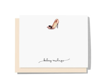 Personalized Note Cards Personalized Stationery Thank You Note Cards  Wedding Notes Pink Stationery Modern Pink Paper