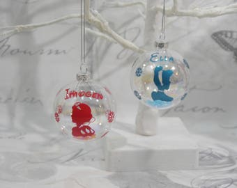 Personalised Disney Princess Glass Bauble Gift Boxed Christmas Decoration Christmas Tree Christmas Gift Personalised Bauble Secret Santa