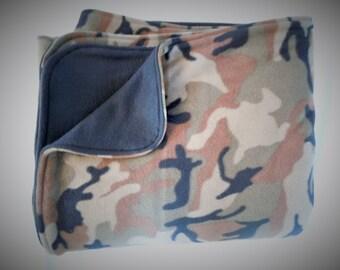 Camo Fleece Blanket - Extra Large