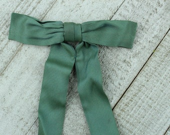 Clip on Western Bowtie - blue green color