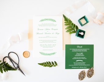Leaf Wedding Invitations | Invitations Wedding | Wedding Invitation Printable
