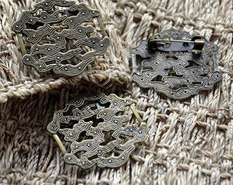5 pcs Antique Bronze Brooch Base,flower Filigree Brooch, Brooch Backs,Jewelry Supplies,flower Brooch Back Base, Bezel Setting Match