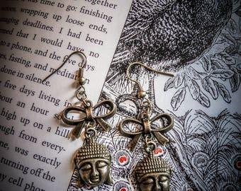 "Bronze Buddha ""Audrey"" earrings"