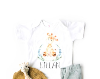 Personalized Baby Boy Outfit, Newborn Boy take home, boys coming home outfit, safari theme nursery, jungle theme baby shower,
