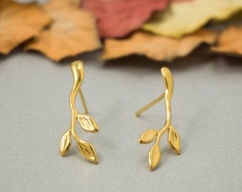 Stud Earrings, Minimalist Earrings, Gold Earrings, Gold Simple Earrings, Minimal Earrings, Dainty Earrings, Gold Everyday Earrings
