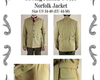 Herren Norfolk Jacket Schnittmuster #0416 Größe EU 44-58 PDF Download