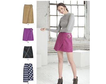Simplicity Sewing Pattern 8459 Misses' Skirts with Length and Front Variations