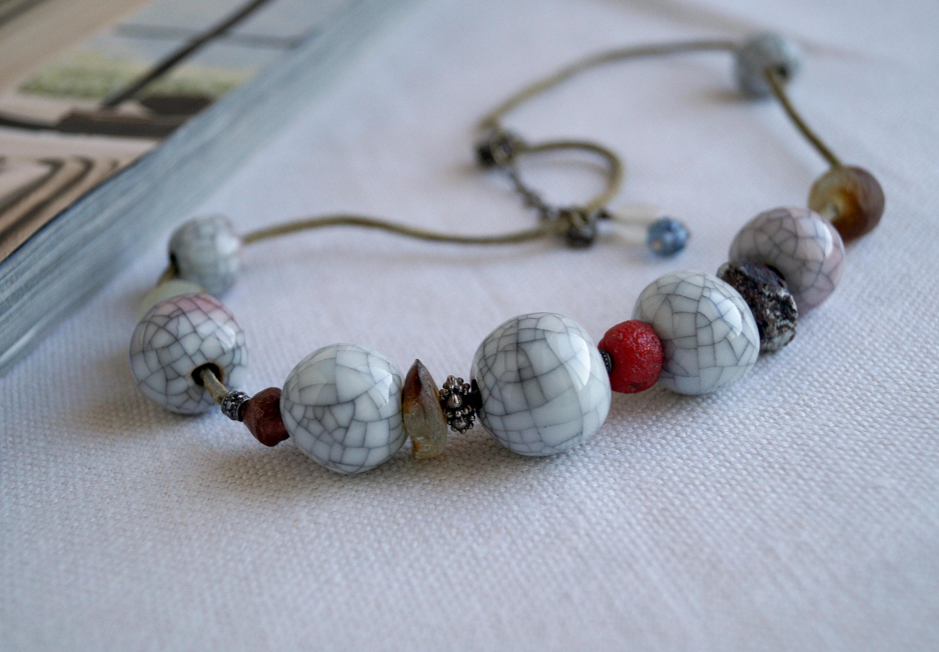 fullxfull p raku glass il and art necklace