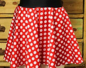 Running skirt women or girls Muffin top free disney princess boston marathon girls minnie mouse red polka dot spandex lycra