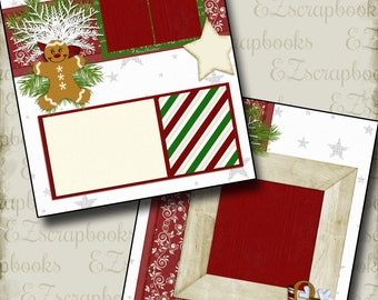 CHRISTMAS - 2 Premade Scrapbook Pages - EZ Layout 262