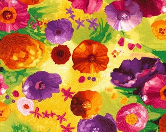 Dream- Fantasy Flowers-Chong-a Hwang-Timeless Treasures- Quilt -Apparel-WindyRobinCotton- *Sold by half yard.
