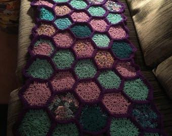 Whimsical Hexagon Baby Blanket
