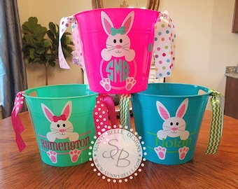 Personalized Easter Bucket; monogrammed Easter bucket