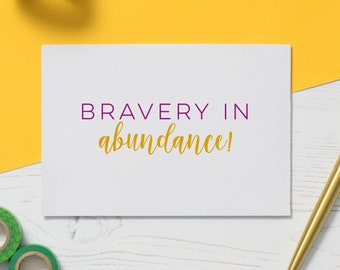 Bravery Card: Chemo Card, Cancer Card, Illness Gift, Empathy Gift, Friendship Card, Support Card, Cards for Illness, Get Well Soon, IA076