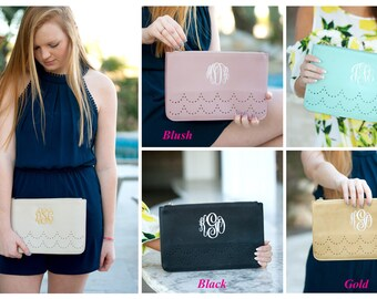 Monogram Scalloped Clutch, Monogram Scallop Clutch, Personalized Scalloped Clutch, Personalized Scallop Clutch, Scallop Clutch, Clutch Purse