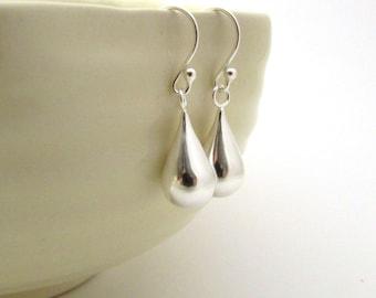 Sterling silver drop earrings, sterling teardrop earrings, silver minimalist earrings, sterling silver earrings, silver minimal earrings