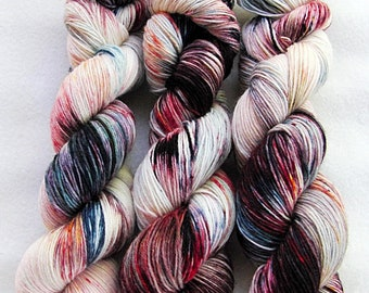 Handdyed SockYarn, 75 Wool, 25 Polyamid 100g 3.5 oz. Nr. 773