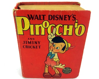 Pinocchio And Jiminy Cricket Better Little Book 1435 Vintage 1940 Walt Disney