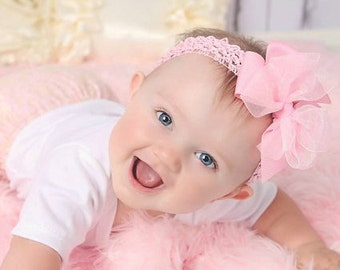 Baby Girl Headband newborn baby girl headband New Baby Gift Big Bow Headband