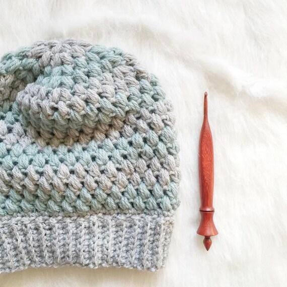 Bubble Wrap Slouch Crochet Pdf Pattern Puff Stitch Slouch Hat