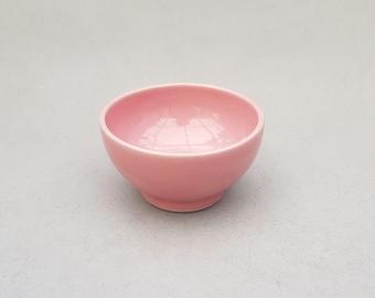 Small pink ceramic bowl -- Handmade stoneware ceramics