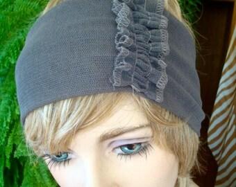 Womens  Headband adult headband hairband mesh Taupe